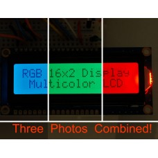 RGB backlight positive LCD 16x2 + extras (black on RGB)