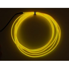 High Brightness Yellow Electroluminescent (EL) Wire - 2.5 meters (High brightness, long life)