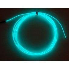 High Brightness Aqua Electroluminescent (EL) Wire - 2.5 meters (High brightness, long life)