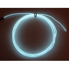 High Brightness White Electroluminescent (EL) Wire - 2.5 meters (High brightness, long life)