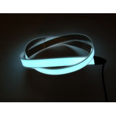 White Electroluminescent (EL) Tape Strip -100cm w/two connectors