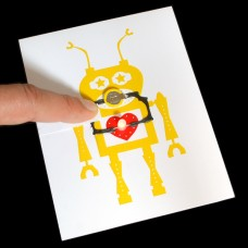 Robot-Themed Light-up Greeting Card Kit with Bare Conductive Paint