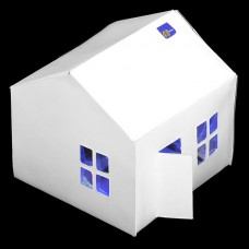 Light-up Paper House Kit with Bare Conductive Paint - Lights-up in Dark Automatically!