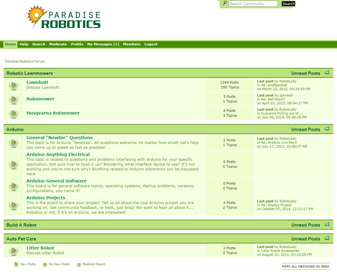 Paradise Robotics Forum Image