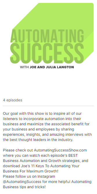 Automating Success Podcast Graphic